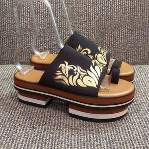Clover Canyon Geta Platform Sandals Shoes Toe Ring